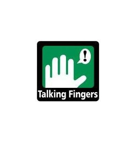 talking fingers logo