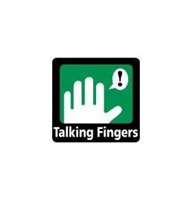 talking fingers logo